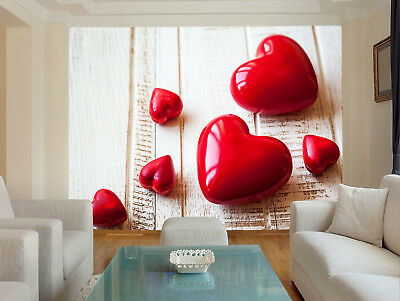 """495 STUNNING COLORFUL LOVE HEART WALL ART X LARGE 18 """"x32"""" CANVAS PRINT PICTURE"""