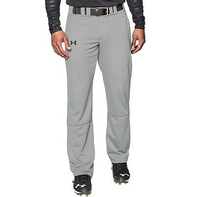 Under Armour Men's Clean Up Baseball Pants Unhemmed Gray New FREE POSTAGE
