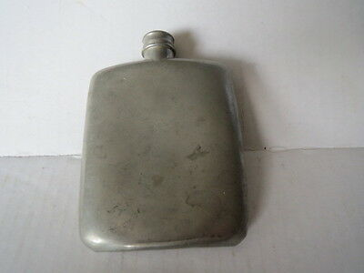 Vintage ABERCROMBIE & FITCH Pewter Hip Flask ENGLAND Hallmarked 45 40ZS