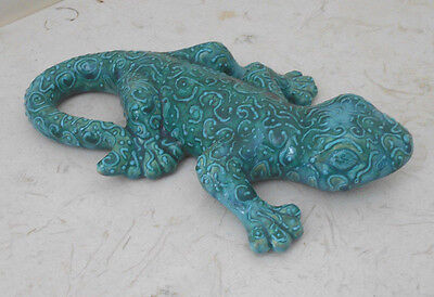 "Salamander Lizard 10"" ceramic statue-Porch patio figurine"
