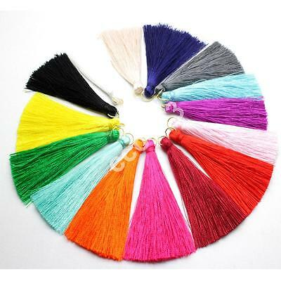 16pcs 65mm High Quality Silky Road Tassels with Gold Jump Ring Jewelry Accessory