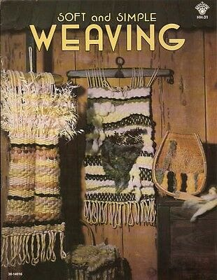 Soft and Simple Weaving Mona Fisk Vintage Pattern Instruction Book NEW 1978