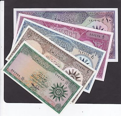 Iraq Full 5 Pcs. Set Of 1959 Issue P.51-55 In Xf-Unc Cond.