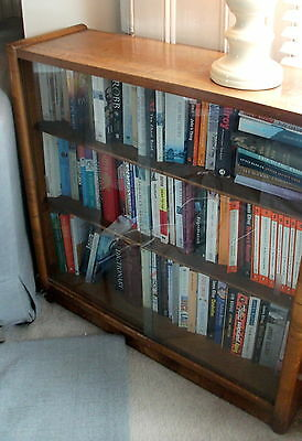 Edwardian Art Deco Arts & Crafts 1910s 1920s 1930s Small Glass Fronted Bookcase