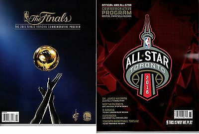 2016 Nba Finals Program Warriors Cavaliers + All Star Game Program Champions ??