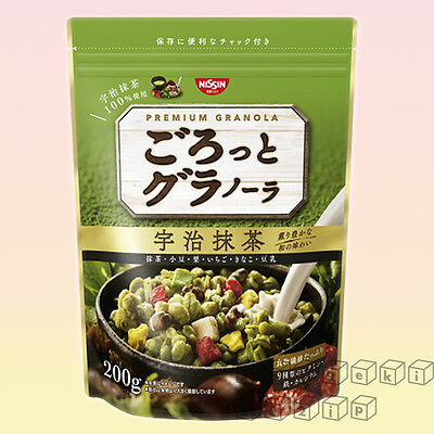 Nissin Premium Granola Japanese Cereal Uji Matcha Green Tea Grain Made in Japan