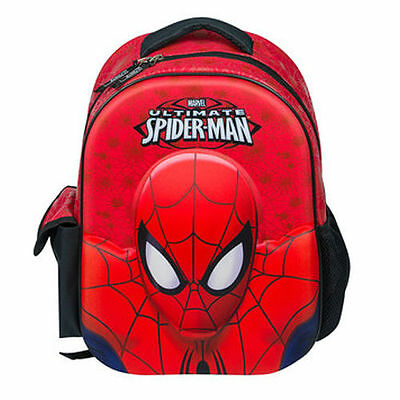 Marvel Spiderman Backpack School Rucksack Ultimate 3D Kids Junior Bag