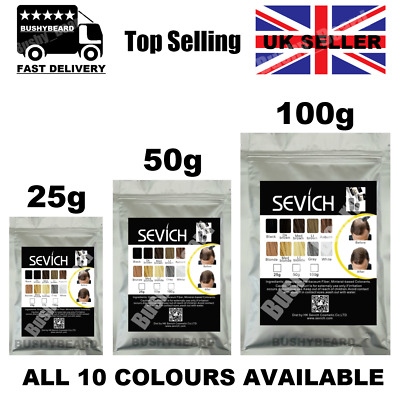 Sevich 3 25g 50g 100g Keratin Hair Growth Building Thickening Fibres Refill Pack