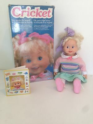 Cricket 24'' Doll She Speaks For Herself Playmates English/french L@@K