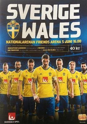 * SWEDEN v WALES (INTERNATIONAL FRIENDLY 5th June 2016) *