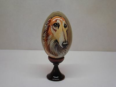 Russian eggs. High quality. Hand-painted Borzoi