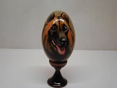 Russian eggs. High quality. Hand-painted Belgian Sheepdog