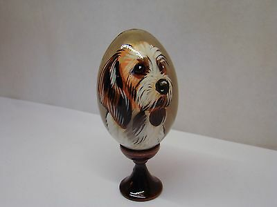 Russian eggs. High quality. Hand-painted Basset Griffon