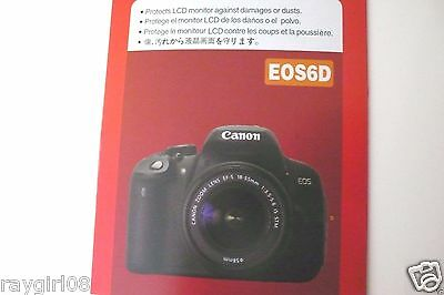 LCD Monitor Protector Film for CANON EOS 6D Digital SLR Camera
