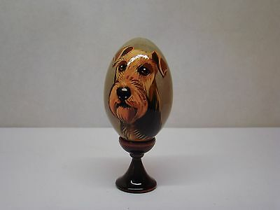 Russian eggs. High quality. Hand-painted Airedale Terrier