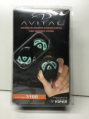 Viper Avital 3100LC 1-way Security System Car Alarm Key Fob New Sealed