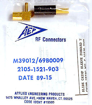 SMB PLUG  RT-ANG RG-188 etc - AEP 2105-1521-903 Mil M39012/69B0009 - *NEW* Qty:7