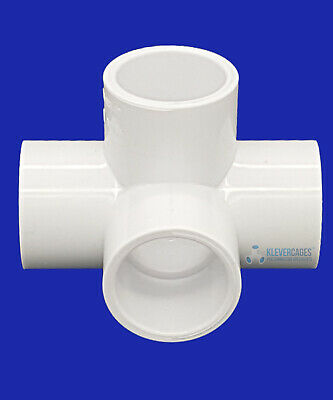 4 Way L Tee PVC Connector - 15mm