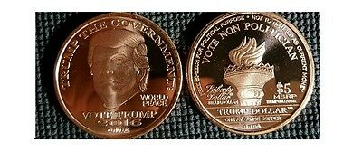 2016 Trump Dollar 1 oz .999 Copper BU Round USA Made Bullion $5 Norfed Coin