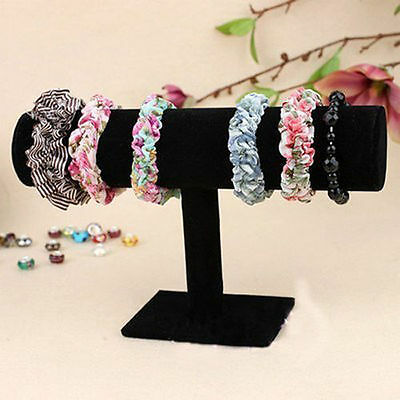 Velvet T-Bar Jewelry Rack Bracelet Necklace Stand Organizer Holder Display New F