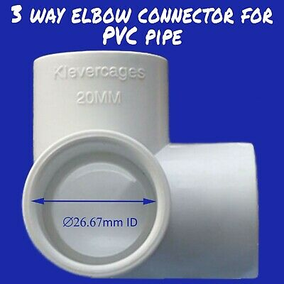 3 Way PVC Connector - 20mm