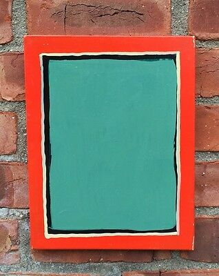 New York Artist Tom Burckhardt Abstract Minimalist Enamel Painting. Signed. 1992