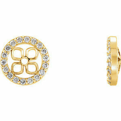14kt Yellow 3/8 ct. tw. Diamond Halo-Styled Earring Jackets