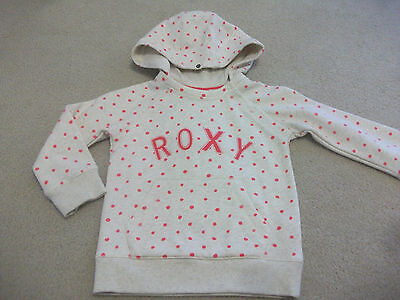 Girls size 4 Spotty Dot ROXY Pullover Hooded Jumper *NEW*