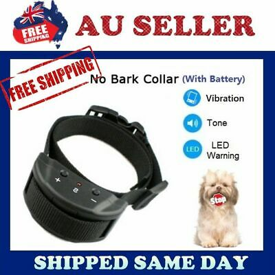 2016 New Auto VIBRATION Anti Stop Barking Dog Collar Safe Training NO SHOCKING