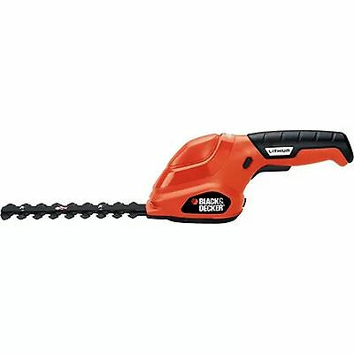 "Black And Decker 6"" Cordless Electric Shear Shrubber Lithium Ion Hedge Trimmer"
