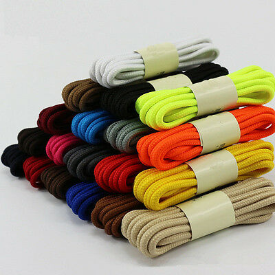1 Pair Fashion Round Cord Canvas Shoes Sport Unisex Shoelaces Shoe String Strap