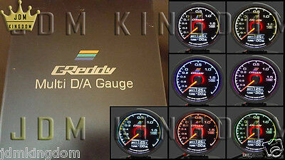 GReddy Style Mult D/A Boost Gauge 7 Colous Racing Performance Drag Street Track