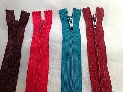 """20"""" Nylon Closed End Zips For Cushions - Various Colours"""