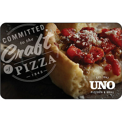 $25 / $50 UNO Pizzeria Physical Gift Card - FREE 1st Class Mail Delivery