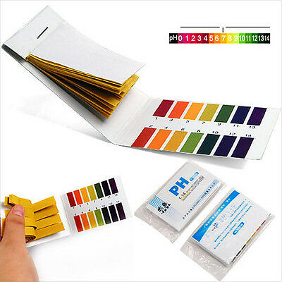 160 pH Test Strips Alkaline Acid 1-14 Paper Litmus Tester Lab Urine Saliva 2PCS