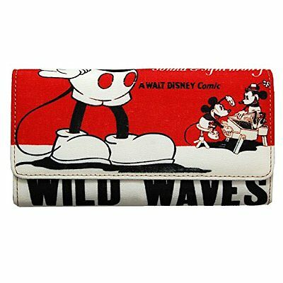 ACCOMMODE Disney Mickey Mouse Red poster Art Long Wallet