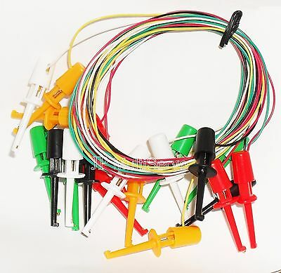 Minigrabber IC ClipTest Lead Set 10 wires with 5 Colors