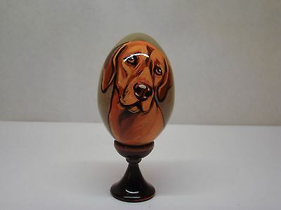Russian eggs. High quality. Hand-painted Vizsla