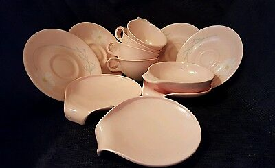 Mid Century Modern Russell Wright Pink Melamine Set