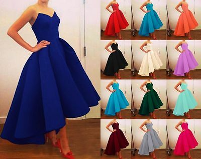 New Formal Bridesmaid Ball Gown Evening Party Cocktail Prom Dresses Size 6-18