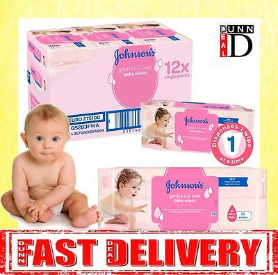 Johnson's Extra Sensitive Gentle All Over Baby Cleansing Wet Wipes 12 PACKS =672