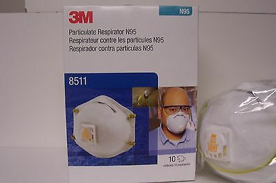 3M 8511 Particulate Respirator Mask(N95)1 BOX OF 10 Mask