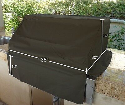 BBQ built-in grill black cover up to 36""