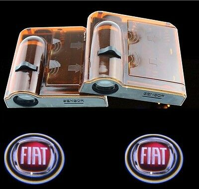 New 2pcs Wireless Car LED door Projector Logo ghost shadow light for FIAT