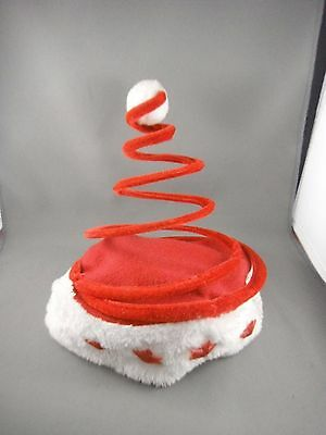 Flashing Santa Hat with Spring