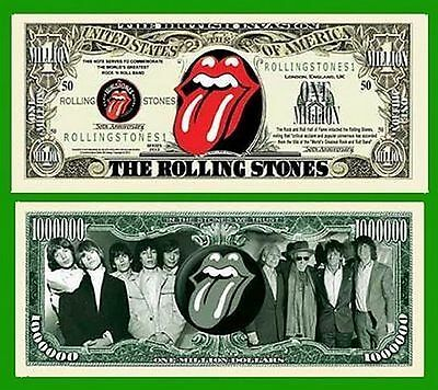 Rolling Stones Million Dollar Novelty Collector Bill Note