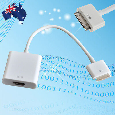 30 PIN Dock to HDMI HDTV TV Adapter Cable For iPhone 4/4S iPad 2 3 AU Stock New