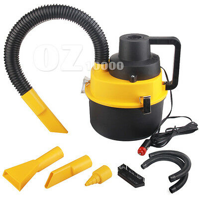 Portable Vehicle Auto Dust Handheld Car Vacuum Cleaner Wet & Dry Yellow 12V
