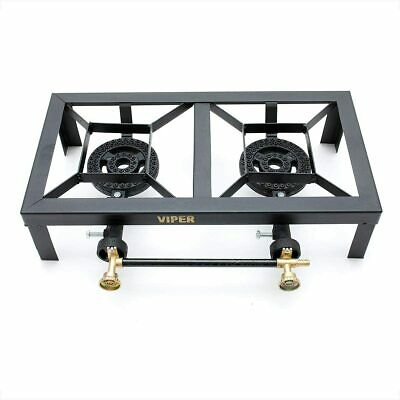 Cast Iron Gas Boiling Ring Catering Lpg Burner Outdoor Double Camping 10kw