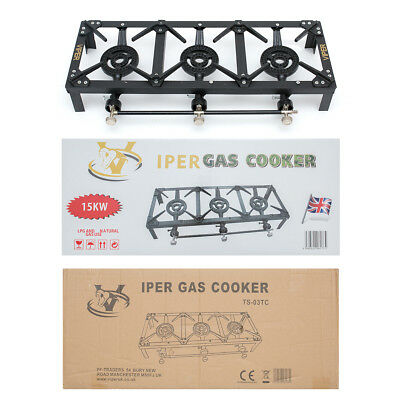 Cast Iron Gas Boiling Ring -Propane/Catering/Lpg/Burner/Outdoor Triple Camping